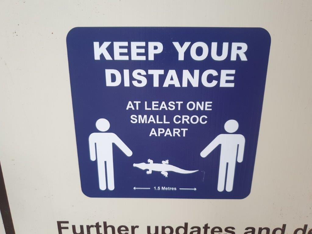 Remember to keep your distance