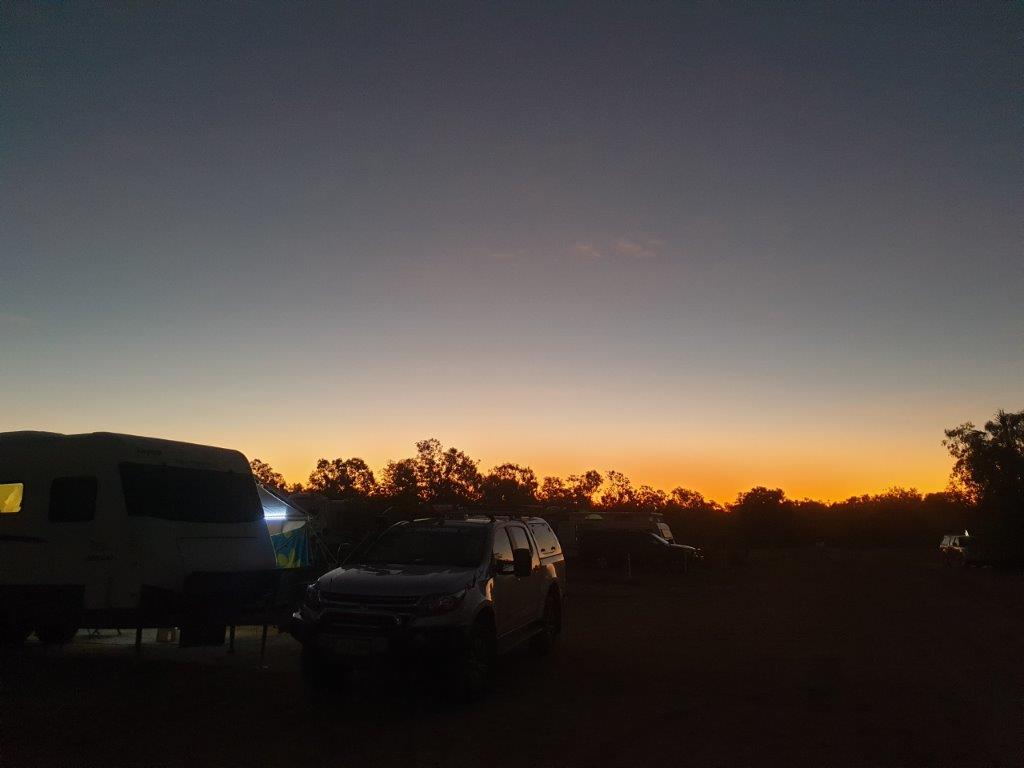 Sunset at Mataranka