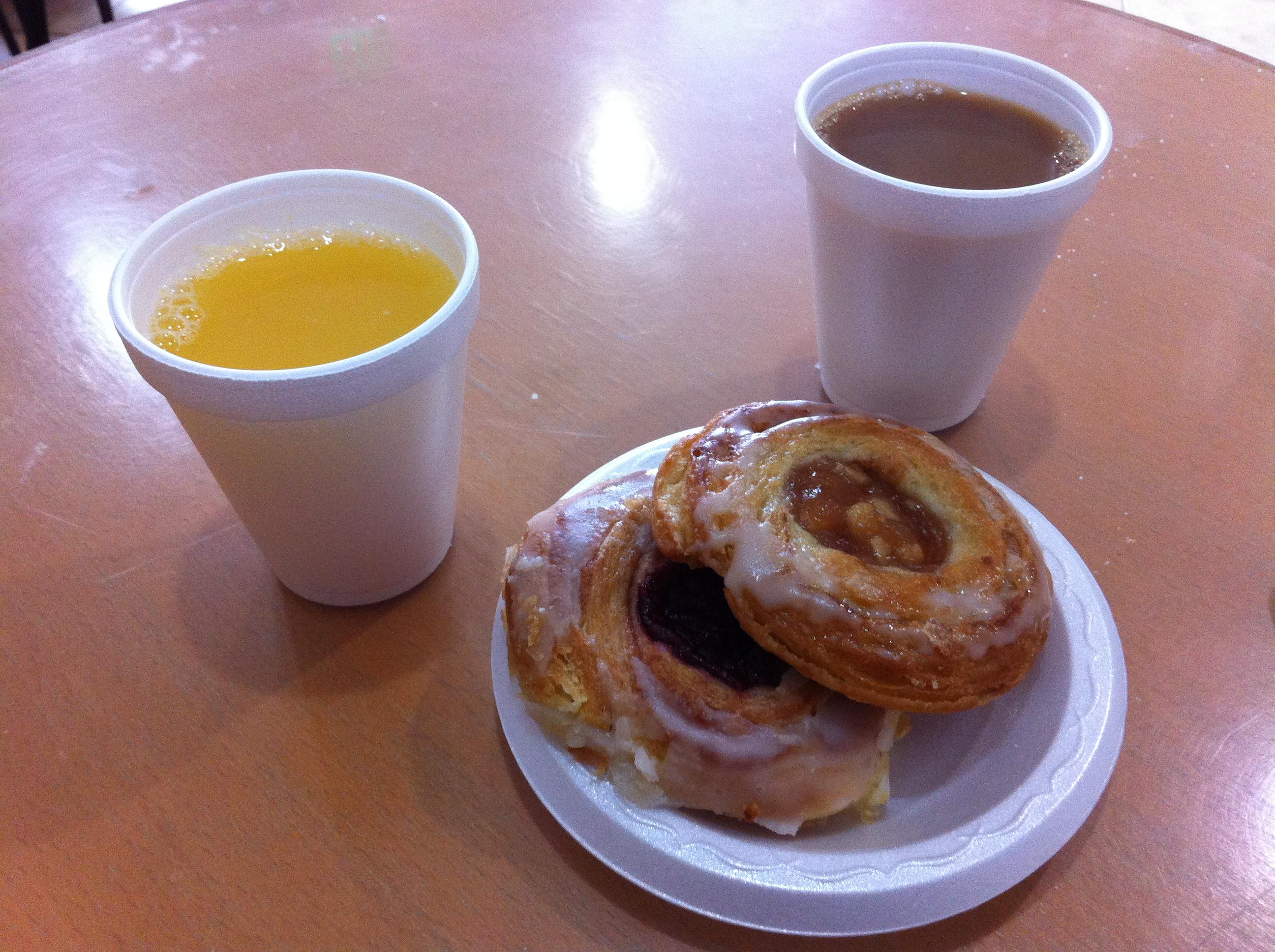 Last breakfast in the US ...