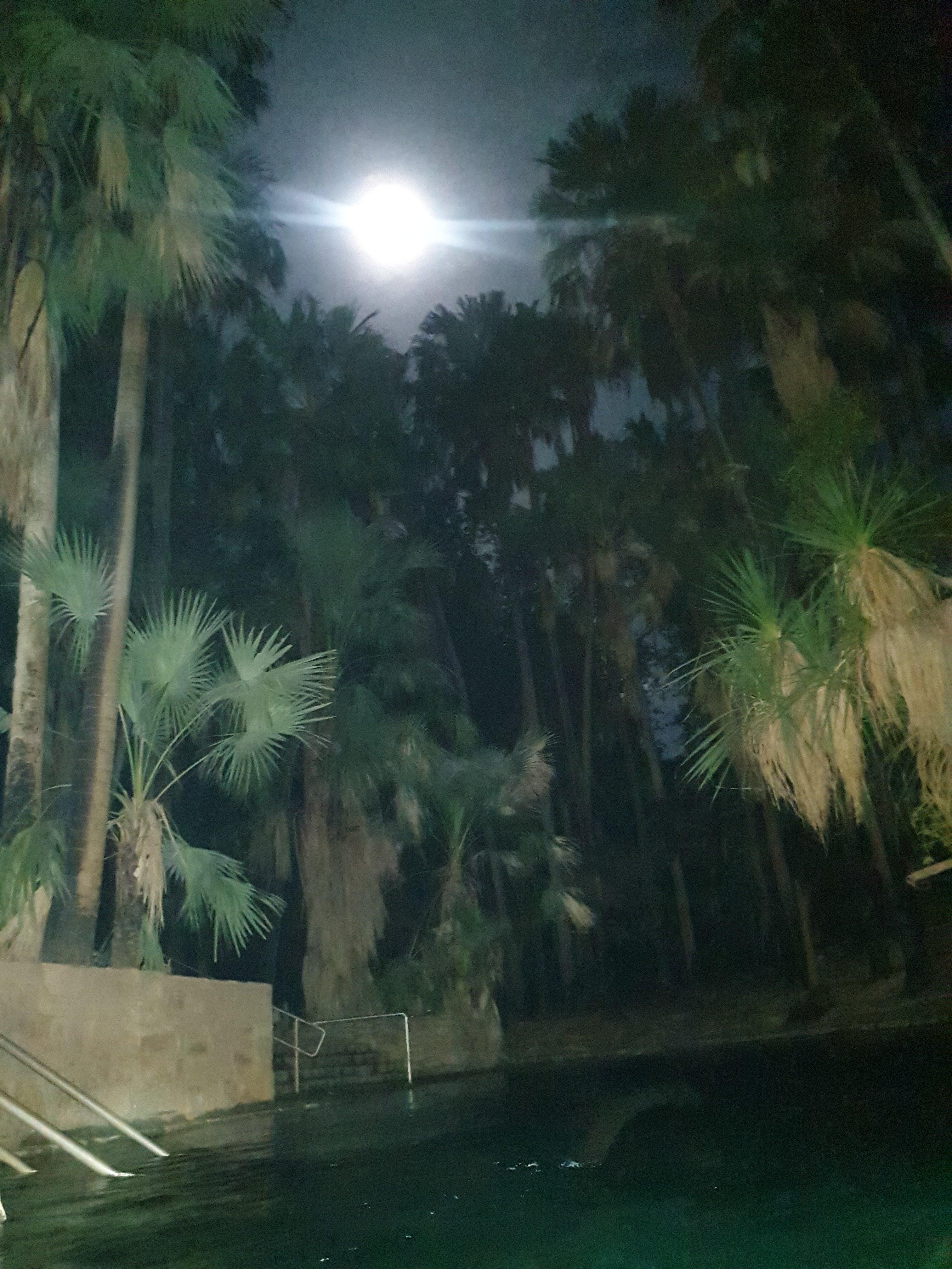 Soaking under a Full Moon