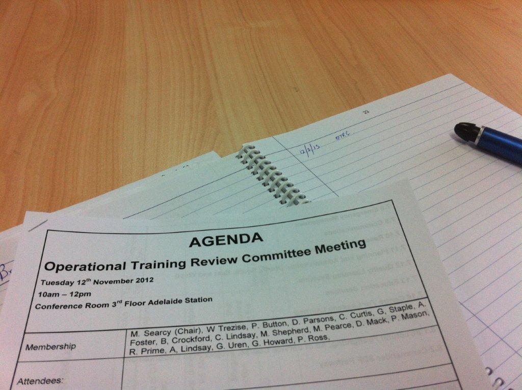 Meeting Agenda - wrong date :)