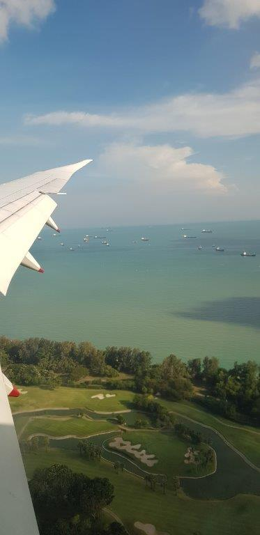 Landing in Singapore