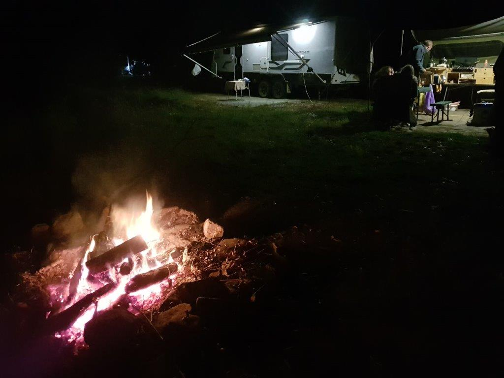 Campfire at Two Mile Creek