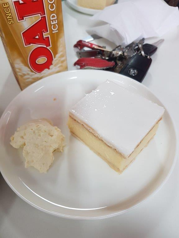 Vanilla Slice at Ouyen