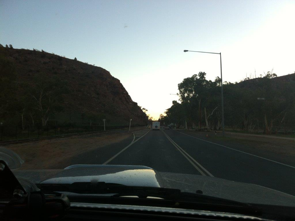 Heavitree Gap in the morning ...