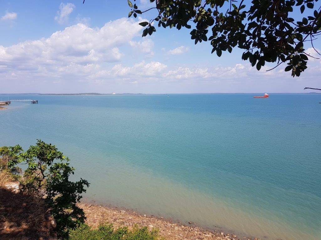 Looking over Darwin Harbour from the cache