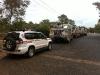 The trucks ...