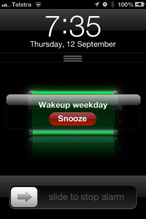 Wakeup or hit snooze :)