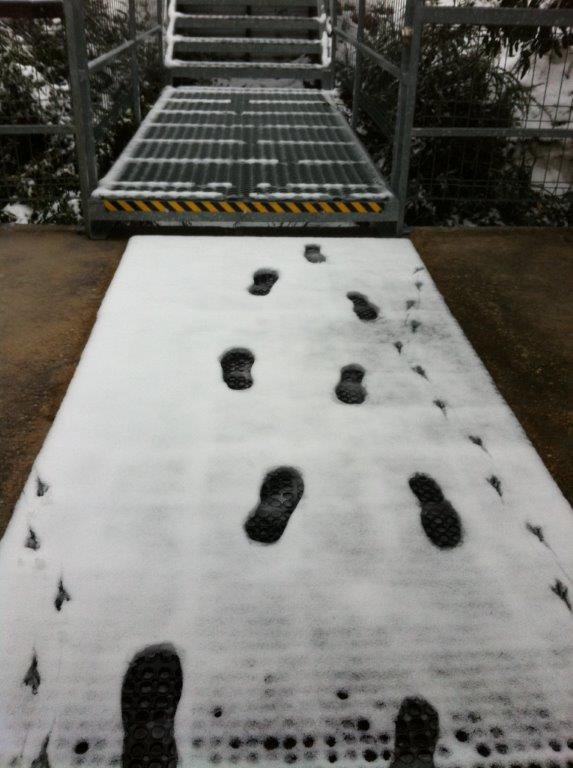 Footprints in the Fresh Snow ...