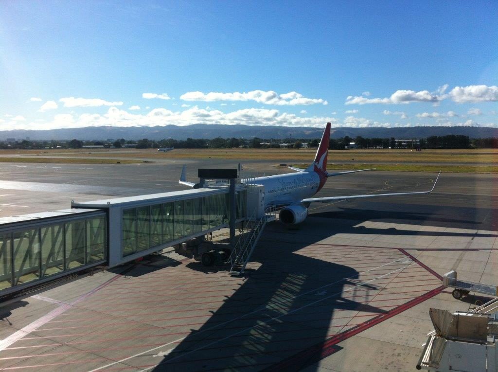 Waiting at Adelaide Airport