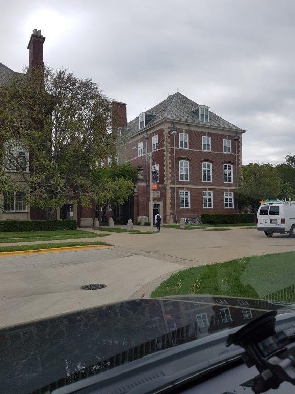Bradley heading to class